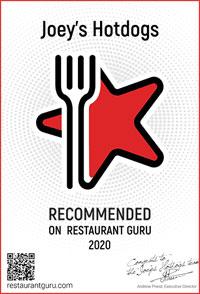 Recommended on Restaurant Guru!
